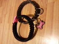custom made paracord collars and leashes