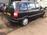Vauxhall Zafira spares or repair