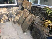 Yorkshire Stone slates and walling stone.