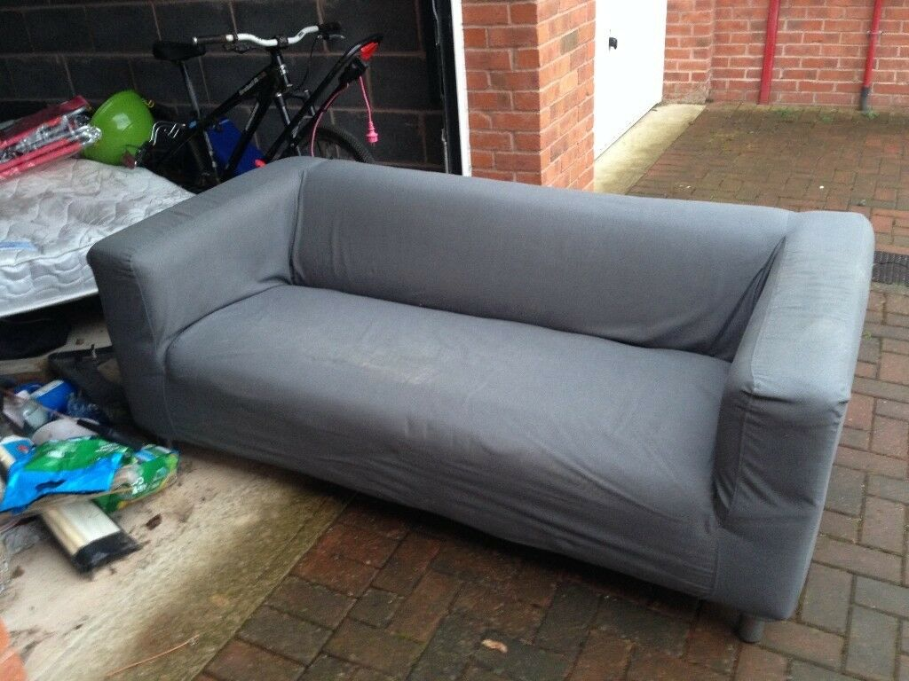 3 Seater Ikea Sofa Barely Used Washable Covers Grey