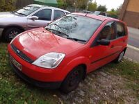 Ford fiesta for spare parts or repairs