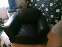 Free bucket arm chair leather
