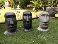 Easter island head garden ornament