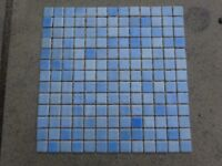 NEW 5 Boxes of Italian Blue Mosaic Wall Tiles