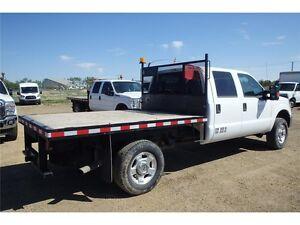 2015 Ford Super Duty F-350 SRW XLT 8' Flat Deck Truck, 21,247 KM Edmonton Edmonton Area image 3
