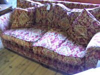 feather filled 3 seater sofa