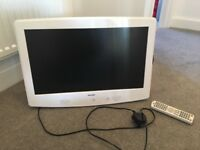 "White bush 21"" Tv and DVD player."