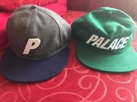 2 Genuine and Real Flawless Brand New Palace Skateboard Caps