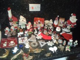 65 item of christmas decorations