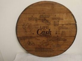 Oak Whisky Barrel Lasered Wall Plaques