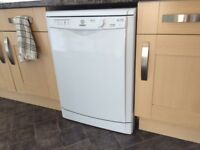 Indesit DFG15B1 Full Size Dishwasher Free Standing White - only 10 months old!