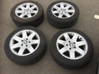 """BMW 16"""" alloy wheels and tyres - E46"""