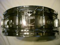 Rogers Super 10 steel snare drum 14 x 5 1/2 - USA -'73/'76 - vintage