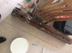 Oak beam for poss fire place