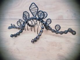 Fair Trade Bicycle Chain Stegosaurus Dinosaur Model