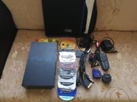 Fat PS2 Console with Cables + 8 Games + Remote DVD Controller + CD Holding Sleeves - NO CONTROLLER