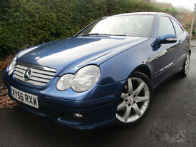 2006 56 MERC C200 SE SPORT COUPE AUTO *HEATED LEATHER* *PADDLE SHIFT* MERCEDES KOMPRESSOR CLC