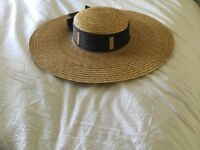 Lovely straw boater from Saks Fifth Avenue