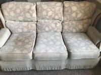 Creme 3 seater sofa
