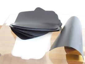 42 BRAND NEW UNUSED LADIES WOMEN'S BOOT SHAPERS / SUPPORTS BLACK AND WHITE PLASTIC