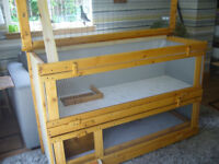 """guniea pig hutch 48""""wide from £35.00 7days 07889465089 up from hampden park worth viewing"""