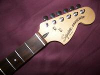 Fender Squier Hot Rails Stratocaster Guitar Neck + Tuners.