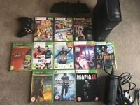 Xbox 360 with Kinect and games bundle