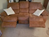 Moreno Reclining armchair and 3 seater reclining sofa