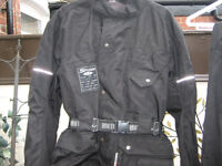 MOTORCYCLE CORDURA JACKET AND TROUSERS