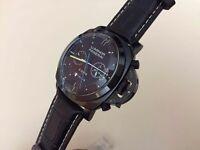 New Panerai Luminor 8 Days Automatic Watch, See Through back