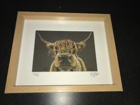 """Miffy"" Highland Cow Framed Print"