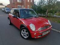 2007 MINI COOPER 1.6 RED HAFL LEATHERS ALLOYS LONG MOT 1 OWNER HPI CLEAR