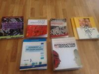 Various Psychology and French Textbooks