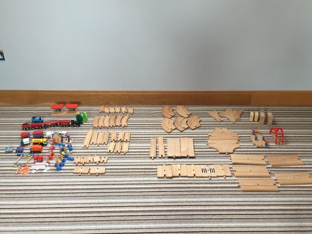 ELC wooden train set with accessories £25