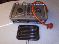 Camping Stove with Grill plus Propane Regulator