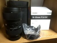 Sigma 18-35mm f1.8 Art DC Lens for Canon EF GREAT CONDITION