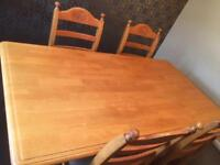 Dining Room Table + 4 chairs