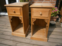 Pair Of Farmhouse Bedside Tables Shed Find
