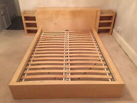 IKEA Malm Double Bed | Pine | with Headboard Storage | Delivery & Assembly