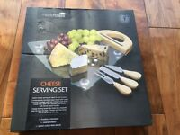 BRAND NEW (in original packaging) Masterclass Cheese Serving Set with board and cheese knives- £10
