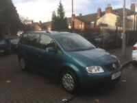 2004 VOLKSWAGEN TOURAN *** 7 SEATER FAMILY MPV *** 1.6 PETROL *** PART EXCHANGE WELCOME *** BARGAIN