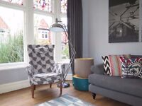 IKEA STOCKHOLM High-Back Armchair Chair - Grey - RRP £295
