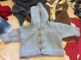 Handknitted baby/toddler clothes