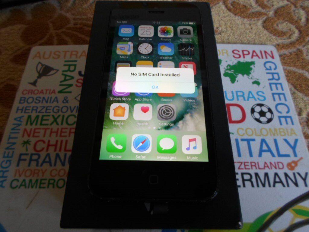 Apple iPhone 5 - 16GB - Black Locked to VODAFONE