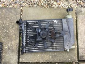 Peugeot S2 106 Quicksilver Radiator and fan.