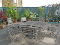 One bedroomed sunny Flat with huge private communal patio and own Balcony, close to three stations