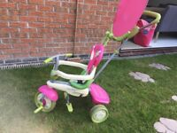 Pink and Green Smart Trike