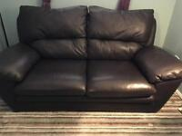 FREE LEATHER SOFA - NEEDS TO GO TODAY