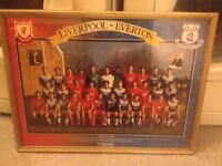 Framed 1986 Liverpool Everton picture
