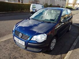 2008 VW Polo 1.2 / 3 Dr /1 Years MOT / Service History / Low Mileage (40K only)/ Very good Condition